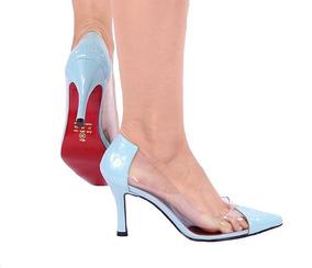 11bf1971f7 Scarpin Stiletto - Scarpins para Feminino Azul piscina no Mercado Livre  Brasil
