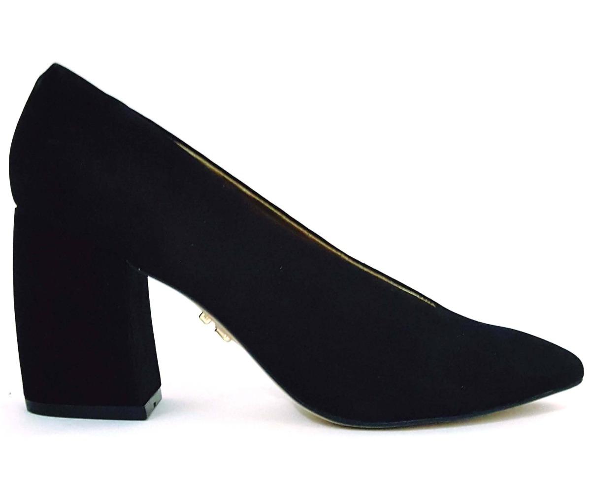 3067ea3ac sapato scarpin feminino salto alto grosso bico fino fechado. Carregando  zoom.