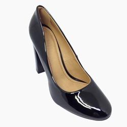 69c2fc766e Sapato Scarpin Feminino Salto Quadrado Verniz Preto - R$ 119,90 em ...