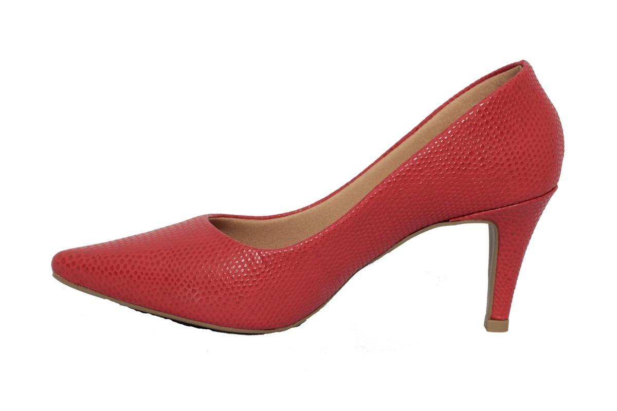 6ec89a7546 sapato scarpin feminino vermelho festa salto fino casamento. Carregando zoom .