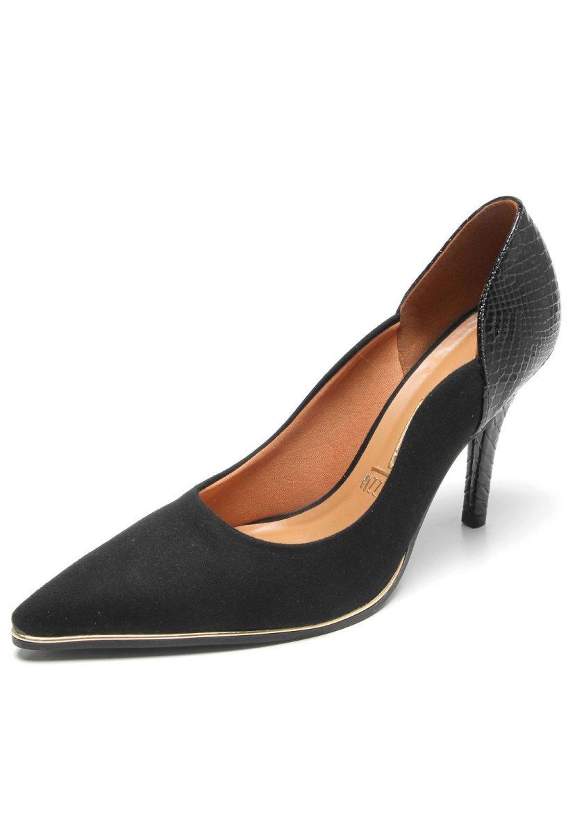 9d1a330cff sapato scarpin feminino vizzano bico fino preto 1267105. Carregando zoom.
