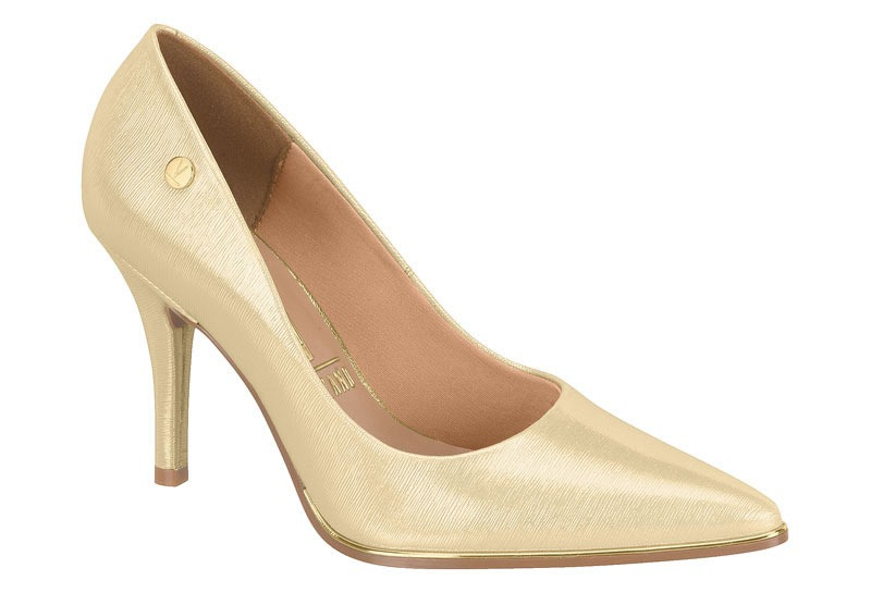 191a17176 Sapato Scarpin Feminino Vizzano Dourado - R  129