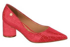 50ec6b189 Scarpin Vizzano Salto Baixo Vermelho - Calçados, Roupas e Bolsas com o  Melhores Preços no Mercado Livre Brasil