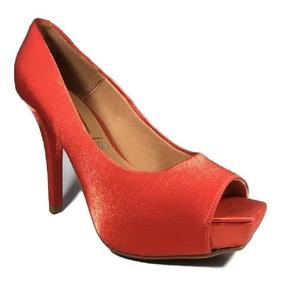 d1f42afd8 Sapato Feminino Brilho Salto Alto Peep Toe Preto 38 - Calçados ...