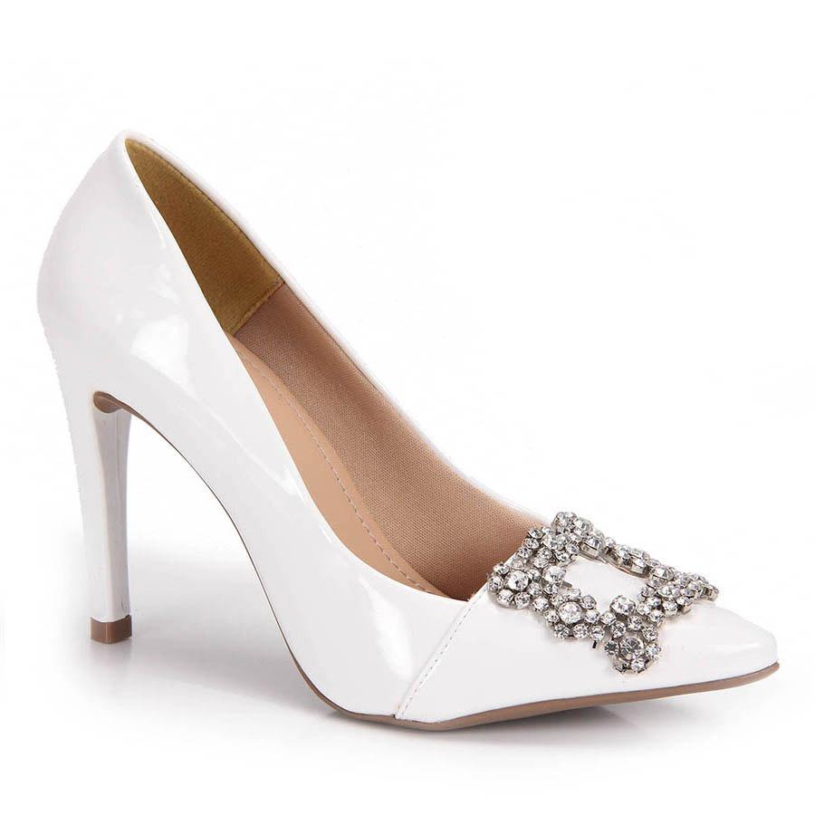 63d4d1e4d5 Sapato Scarpin Lara Strass - Branco - R  129