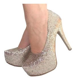 3a7d719e7 Sapato Meia Pata Importada Glitter Feminino - Sapatos com o Melhores Preços  no Mercado Livre Brasil
