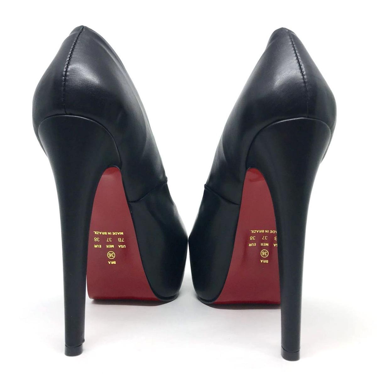 39a62f868 sapato scarpin meia pata preto salto alto fino festa eventos. Carregando  zoom.