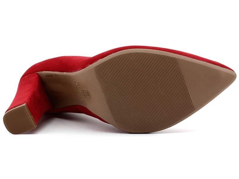 a8804253e5 sapato scarpin mixage 3629002 nobuck vermelho. Carregando zoom.