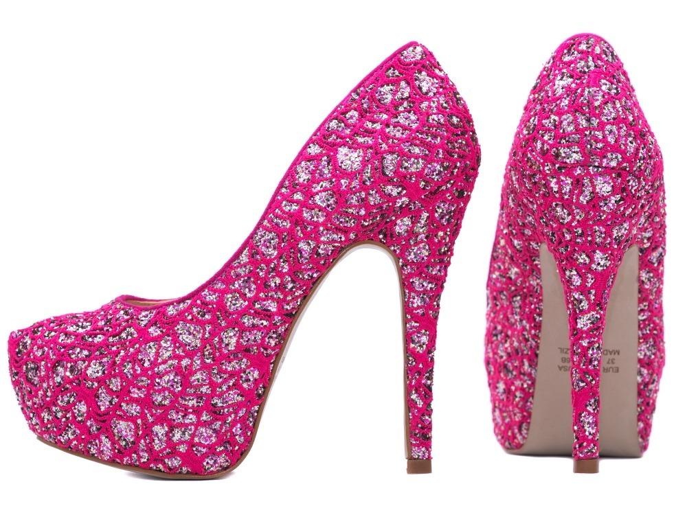 40b6a47c10 Carregando zoom... peep toe sapato scarpin. Carregando zoom... sapato  scarpin peep toe rosa pink debutante 15 anos alto fin