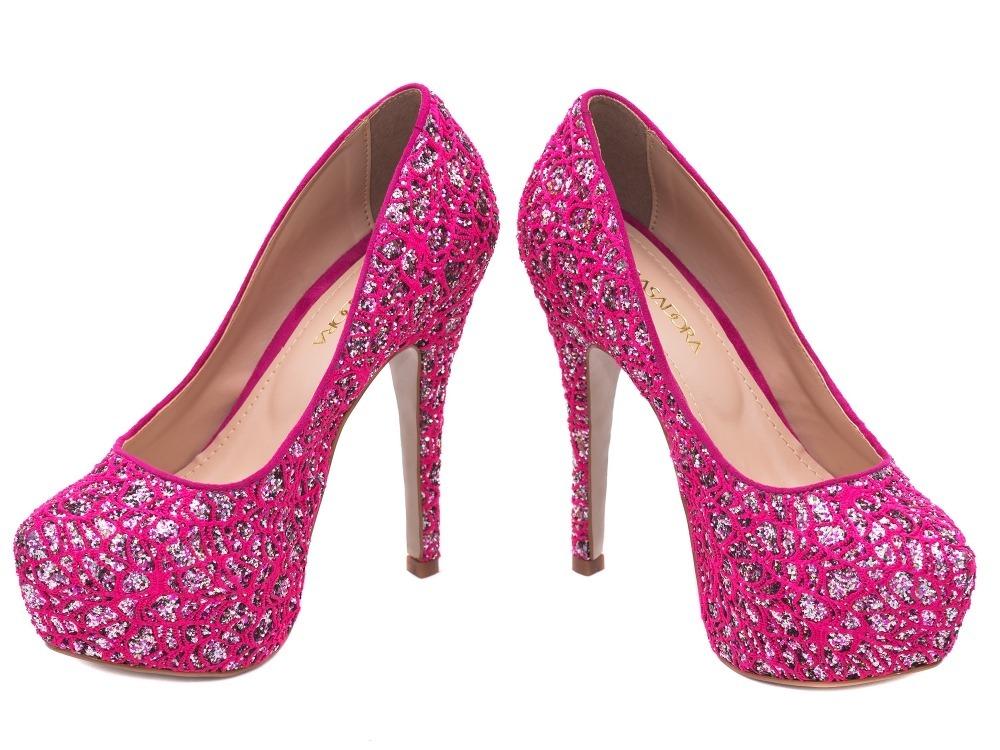 038138fb8f ... rosa pink debutante 15 anos alto fin. Carregando zoom... sapato scarpin  peep toe. Carregando zoom.
