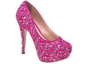 dc23b398b2 Sapato Scarpin Peep Toe Rosa Pink Debutante 15 Anos Alto Fin