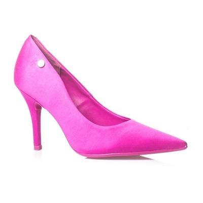 292399c92a Sapato Scarpin Pink Salto Alto Vizzano Cetim - R  109