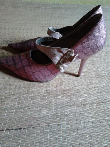 sapato scarpin rosa 36 usado