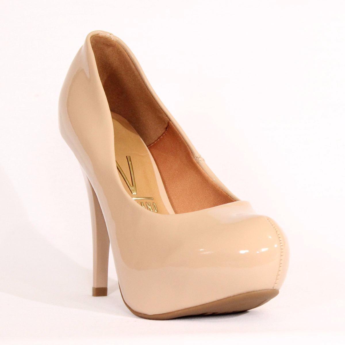fb1cc52854 sapato scarpin salto agulha meia pata nude - vizzano. Carregando zoom.