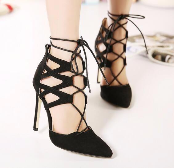 cfae730c3 Sapato Scarpin Salto Alto Tiras Importado Lindo Sexy Sc22 - R$ 239 ...