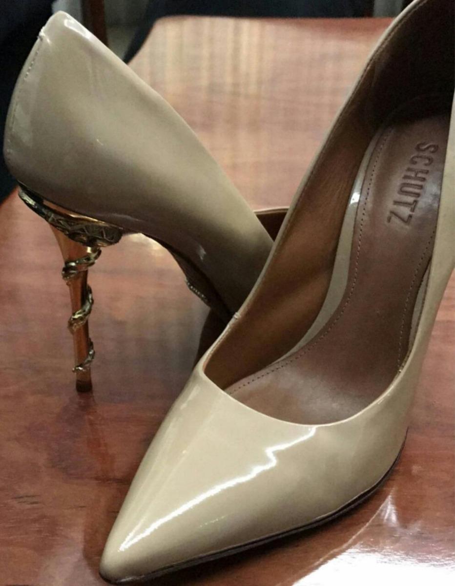 9f16b49c1 Sapato Scarpin Schutz Nude