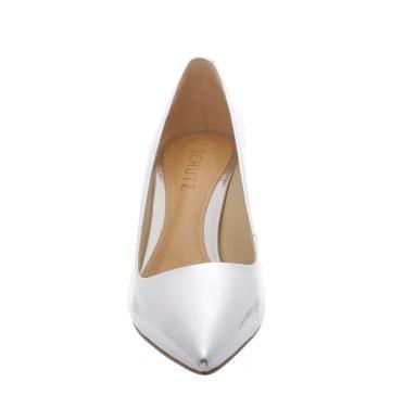 827258523 Sapato Scarpin Schutz Salto Baixo Bico Fino Prata S031710001 - R ...