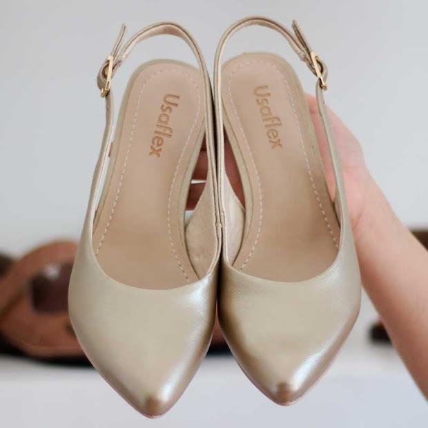 bd5e9d4057b Sapato Scarpin Usaflex Confortável Channel3608 Melhor Preço! - R ...