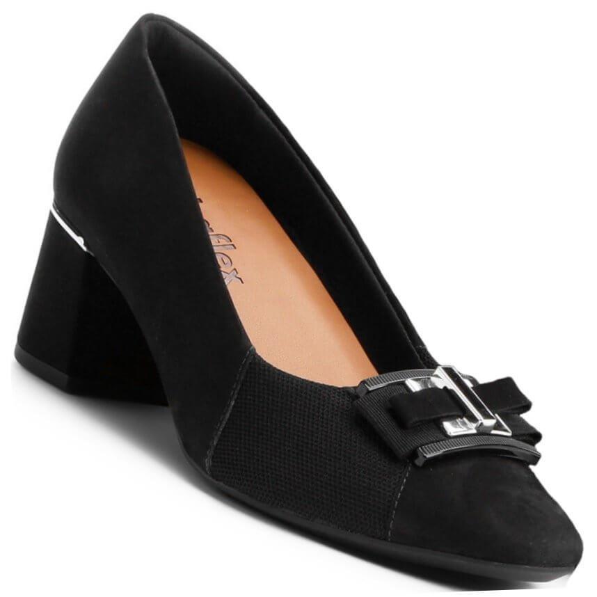cae7057ed Sapato Scarpin Usaflex Dual Care Níquel Feminino - R$ 249,90 em ...