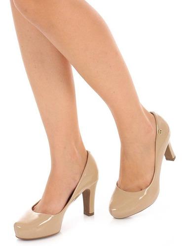 sapato scarpin vizzano meia pata salto médio