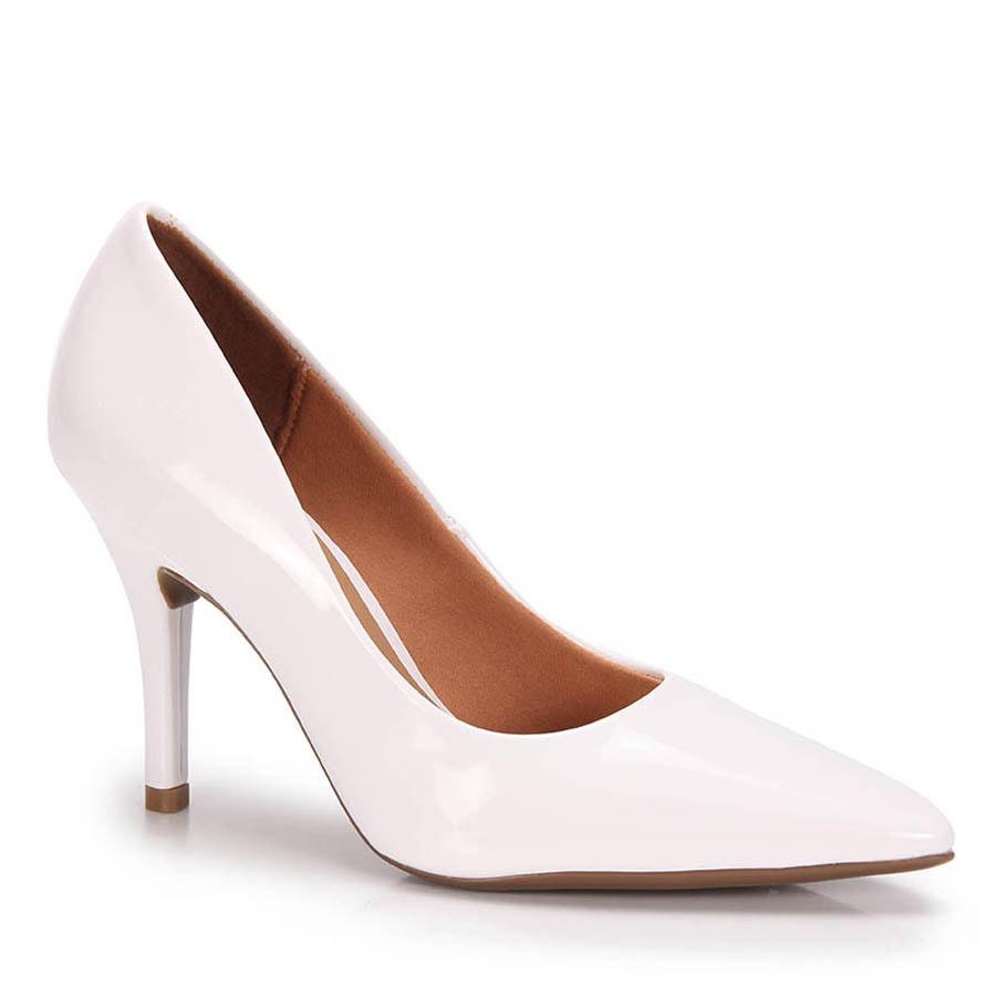 1cdd317f309 sapato scarpin vizzano verniz - branco. Carregando zoom.