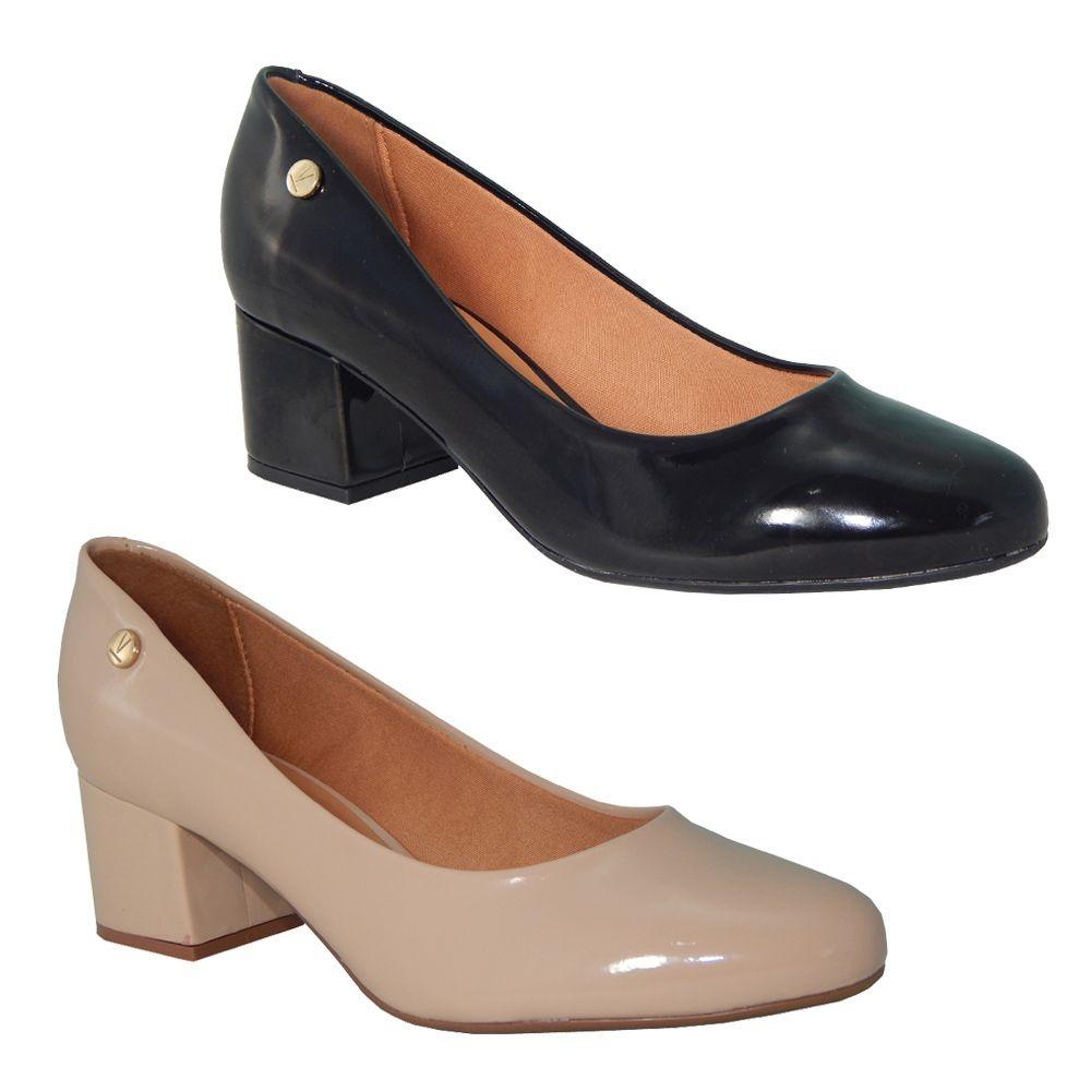 6ed48f563 sapato scarpin vizzano verniz confortável moda 1258.100. Carregando zoom.