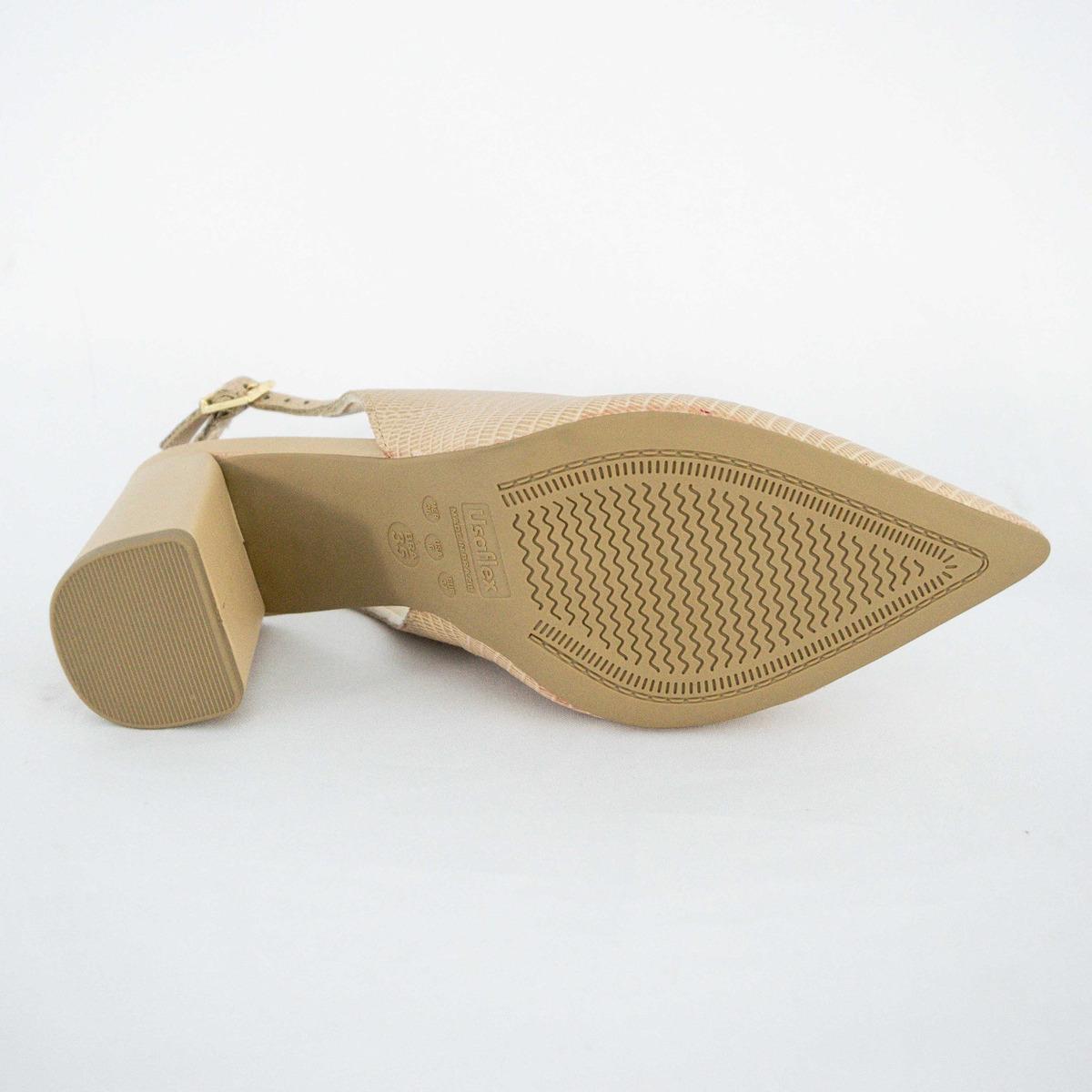 bf9f83b68 sapato slick back usaflex ab6705 chanel nude 100% original. Carregando zoom.