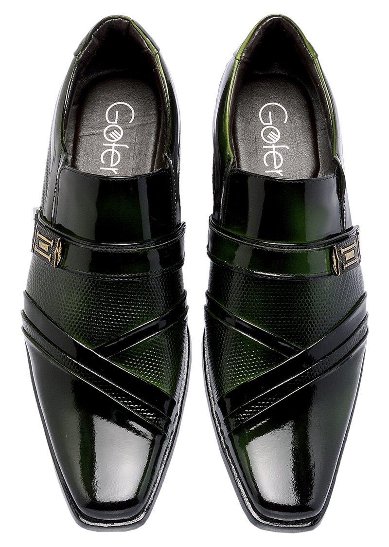 1a6b1080a Sapato Social Bico Fino Masculino Em Couro Carteira Brinde - R$ 169 ...