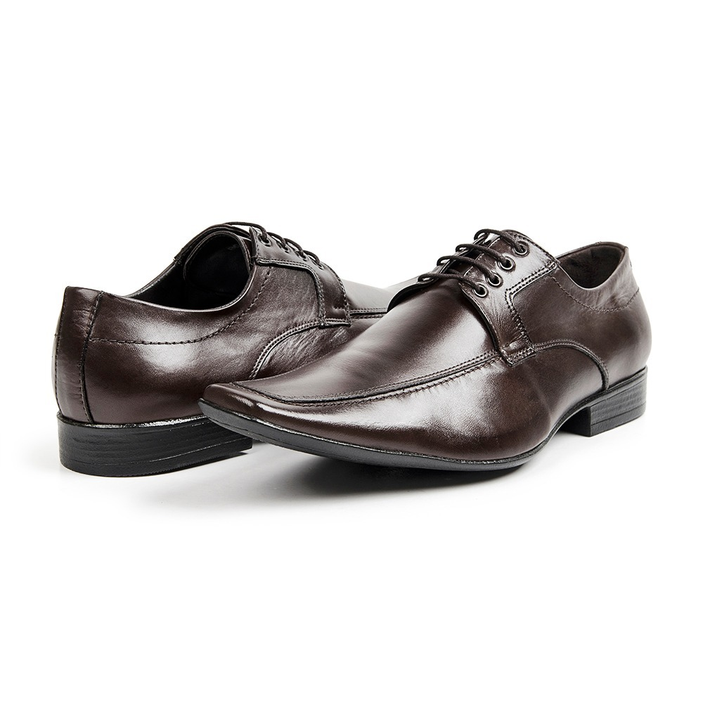 f0982d35b9 sapato social bigioni couro legítimo marron solado borracha. Carregando zoom .