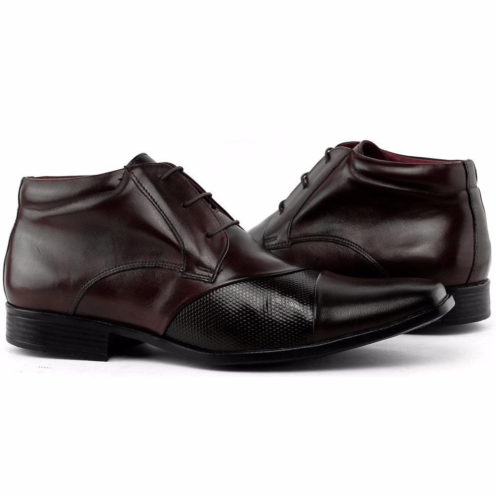 b35b5a6ecd sapato social bota cano alto couro gofer verniz franca. Carregando zoom.