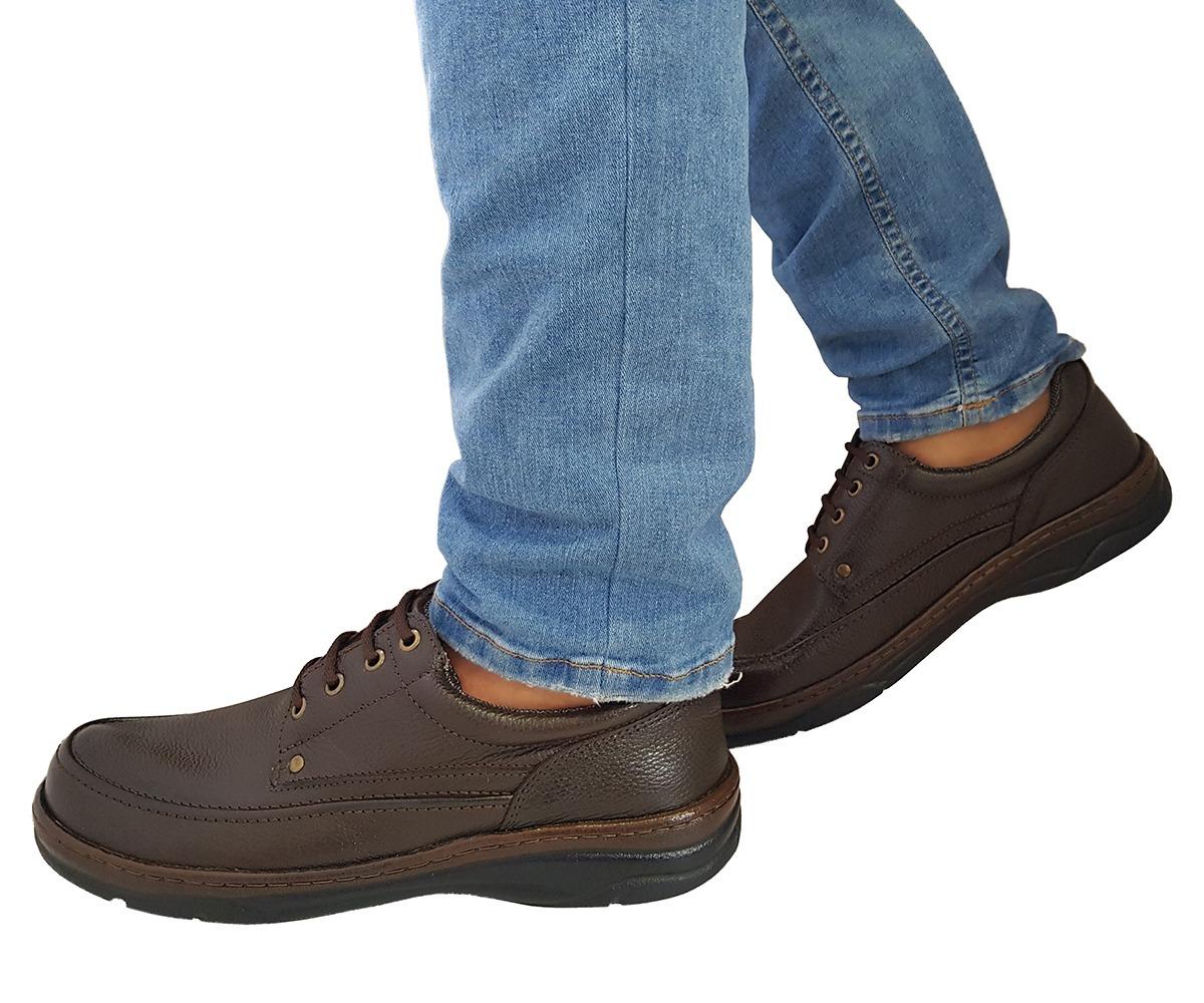 aea2c563b Sapato Social Casual Conforto Diabético Má- Circulação Couro - R ...