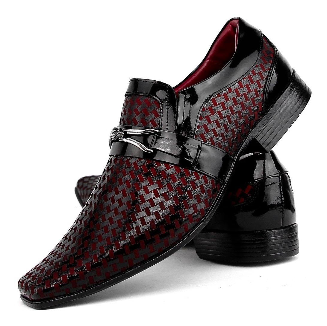 ae1086f5c sapato social casual masculino brilhoso verniz couro franca. Carregando zoom .