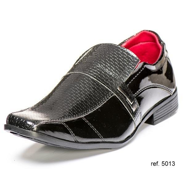 42adf958a Sapato Social Casual Tênis Coturno Elegante Verniz Masculino - R$ 59 ...