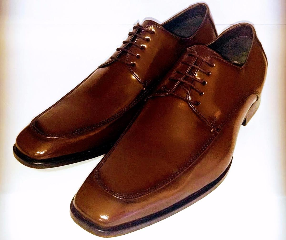 Sapato Social Clássico Derby Linha Premium Artesanal Marrom - R  299 ... 74055ff5de51e