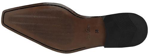 sapato social com cadarço bigioni café solado couro ref 307
