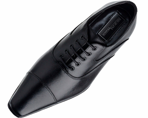 sapato social com cadarço para casamento preto solado couro