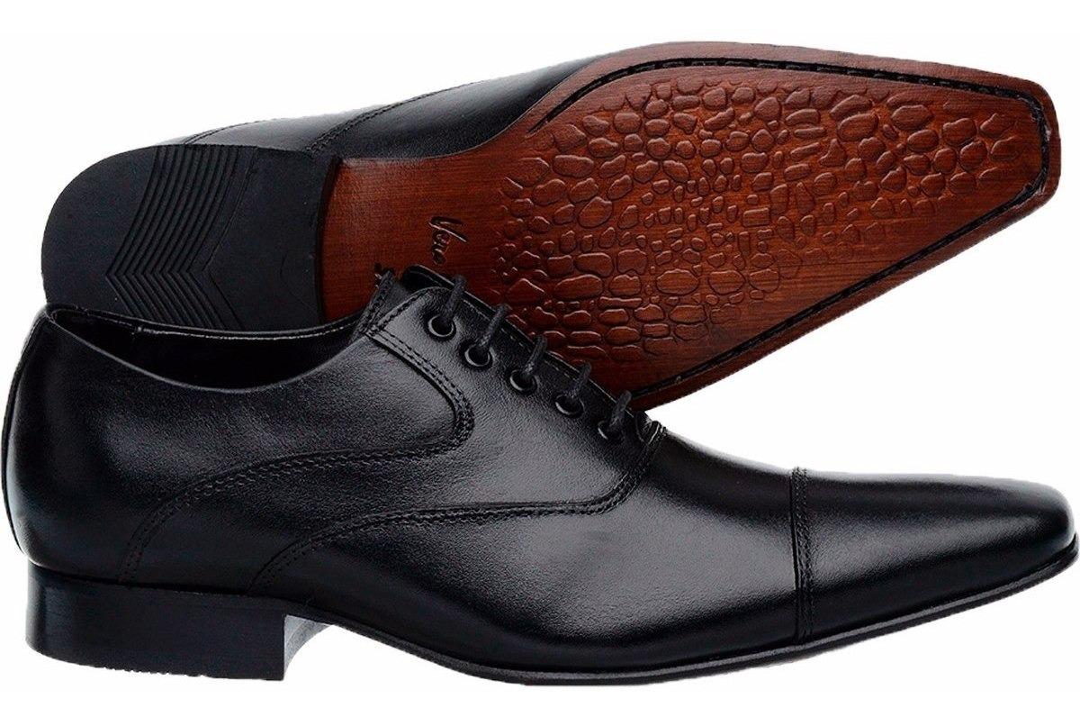 21b777f072 sapato social com cadarço para casamento preto solado couro. Carregando zoom .
