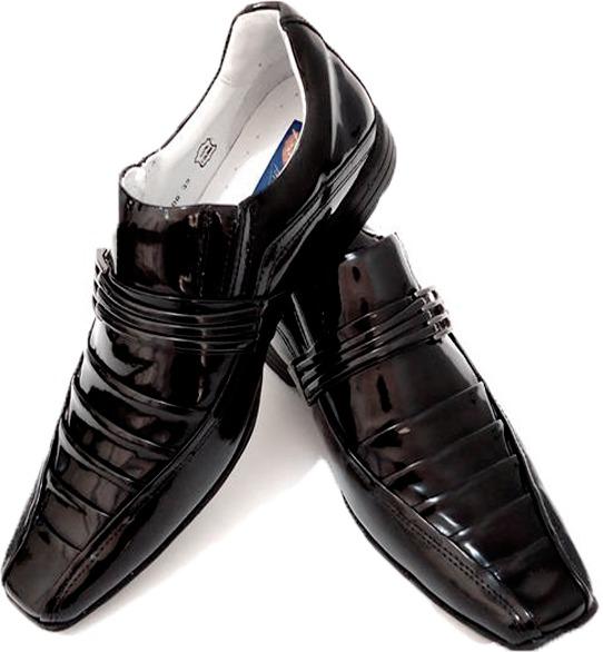 368c217bd5 Sapato Social Couro Envernizado Homem Dhl Calçados Franca Sp - R ...
