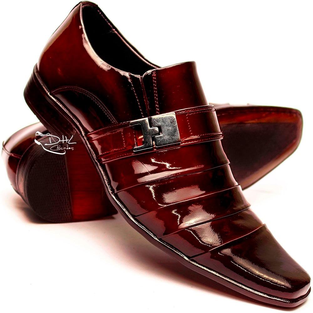 d7bf2b0b1e sapato social couro envernizado masculin franca dhl calçados. Carregando  zoom.