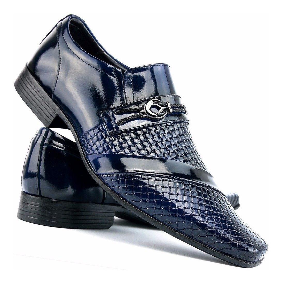 0fce26b417 sapato social couro envernizado masculino stilo italiano dhl. Carregando  zoom.