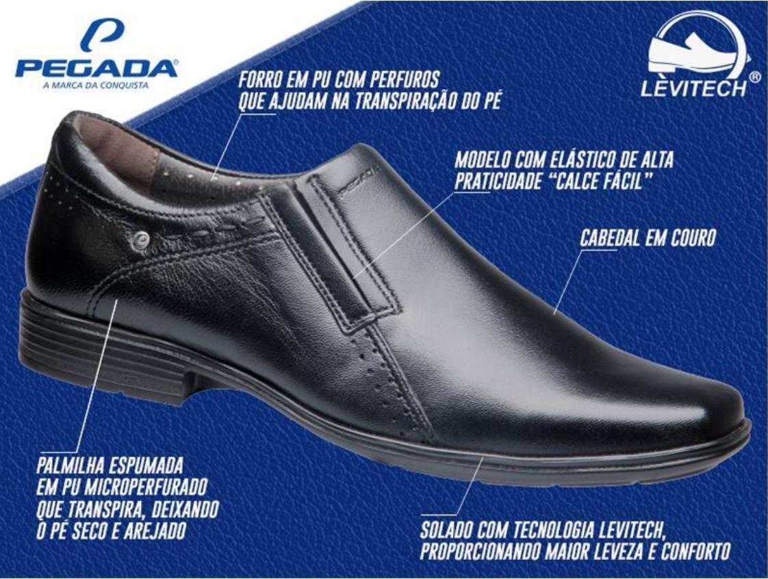 0e7e2f5e60 Sapato Social Couro Eva Pegada Tecnologia Levitech - R  169