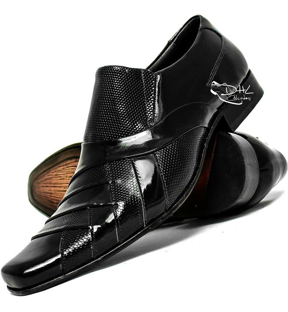 076fa56718 sapato social couro lançamento exclusivo dhl calçados !!! Carregando zoom.