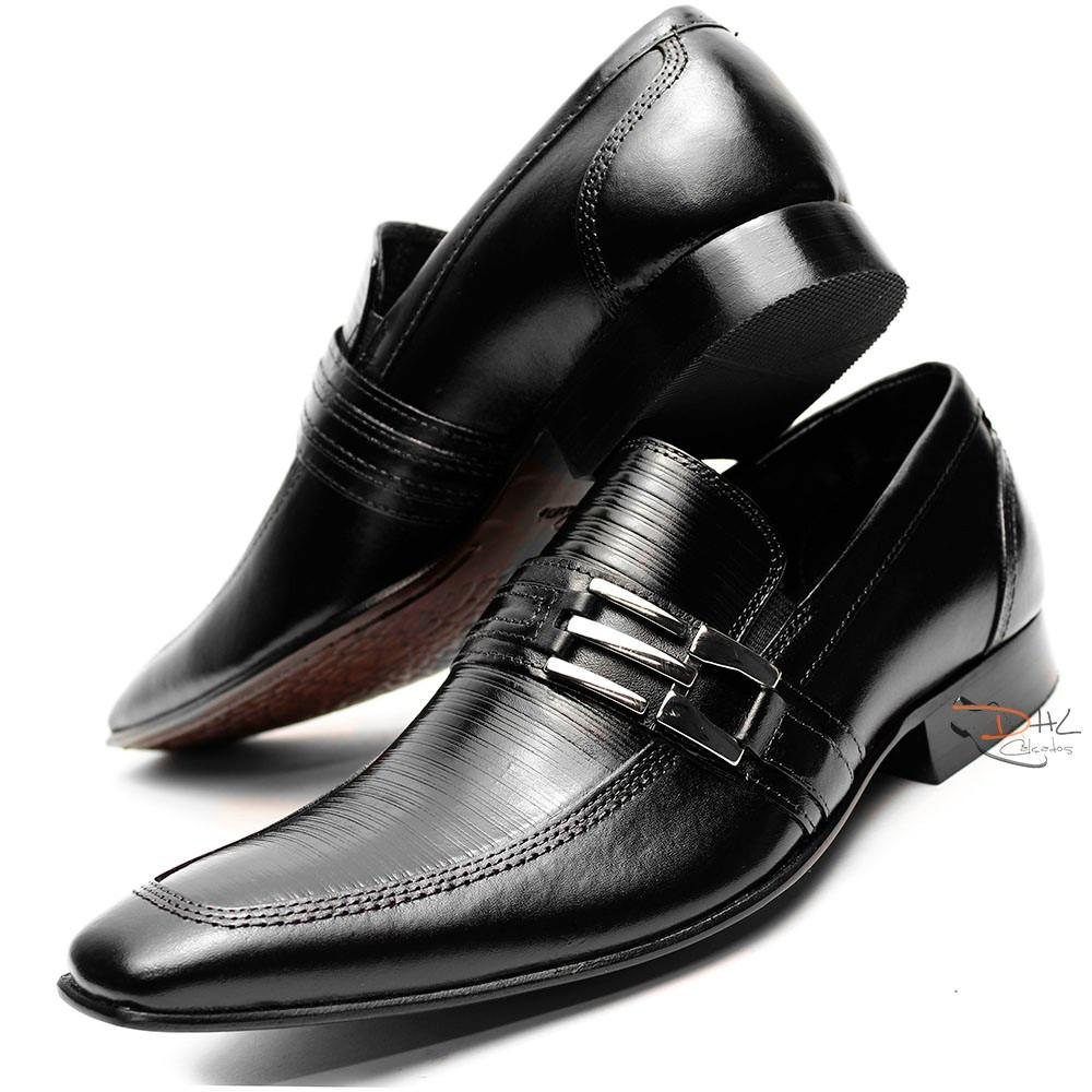 fbc11841ec sapato social couro legitimo homem sofisticado promoção. Carregando zoom.
