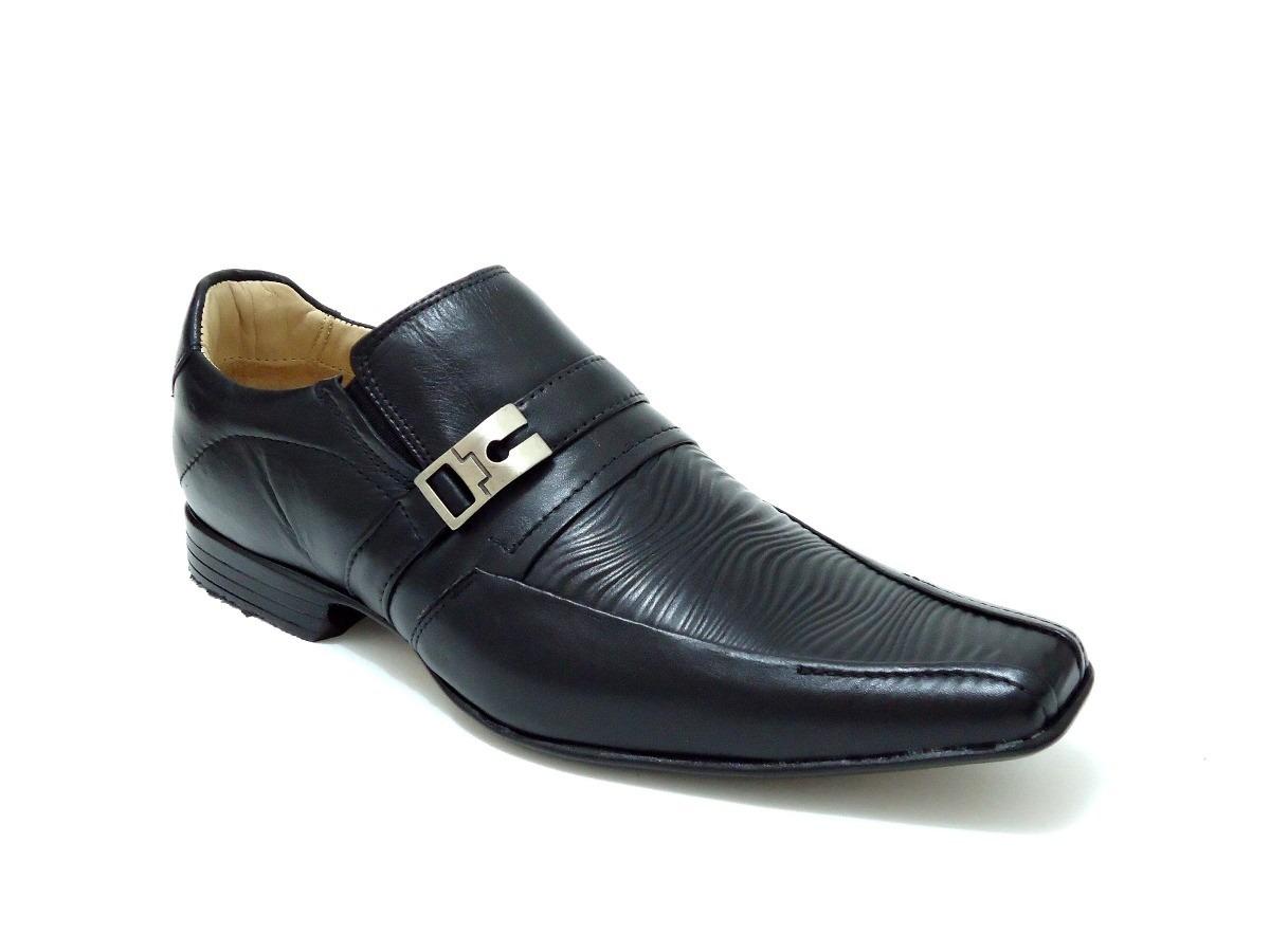 8e5f00375a sapato social couro preto stilo italiano confortável preço. Carregando zoom.