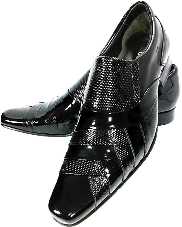 7cd27946b sapato social couro stilo italiano envernizado dhl calçados. Carregando  zoom.