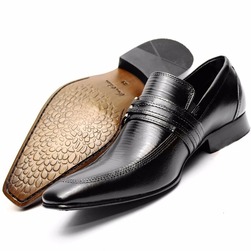 1b4120dd7 sapato social couro stilo italiano sofisticado dhl calçados. Carregando zoom .