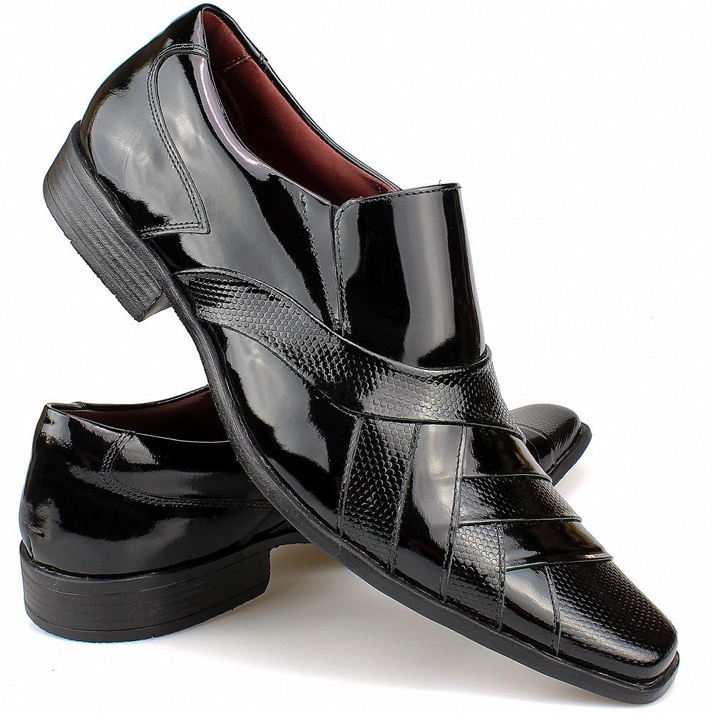 sapato social couro verniz masculino - loja sapatofranca. Carregando zoom. 92acadc34c3a6