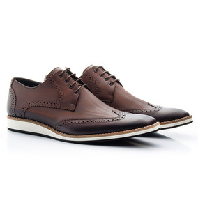 7ff1e87c6 Sapato Em Couro Legitimo - Sapatos Sociais para Masculino Azul marinho no  Mercado Livre Brasil