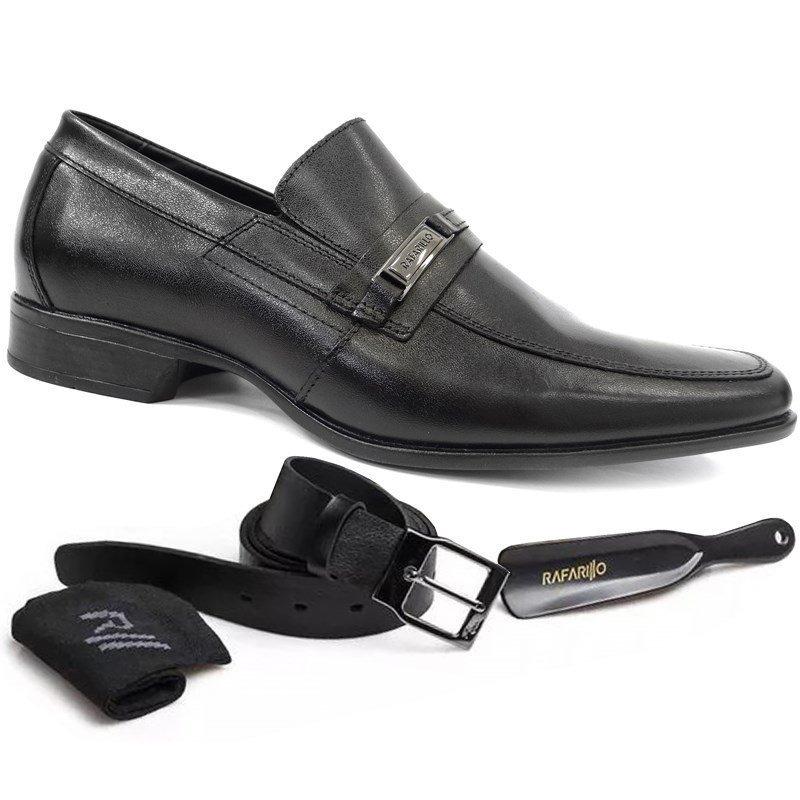 c9be0c677d sapato social de couro 4x1 5201 - rafarillo (01) - preto. Carregando zoom.