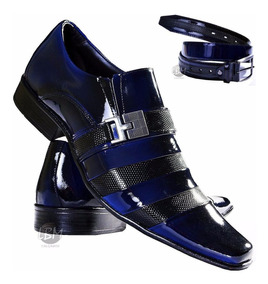 0fc078dcd Sapato Social Gofer Azul Masculino Sapatos Sociais - Sapatos com o Melhores  Preços no Mercado Livre Brasil